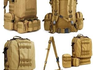 Mochila tactica militar 213 campaña 55 lts bolsas desmontables