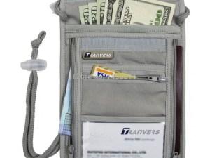 Bolsa secreta organizador travel viaje pasaporte dinero tarjetas