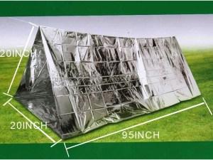 Tienda de campaña de emergencia aluminio supervivencia al aire libre