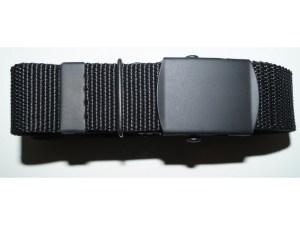 Cinturon militar hebilla pavonada negro F-421