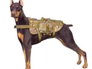Arnes chaleco pechera K9 para perro militar tactico