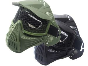 Mascara con malla metal para softair gotcha ciclismo motos