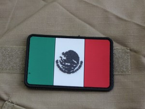 Parche Mexico a color PVC con contactel.