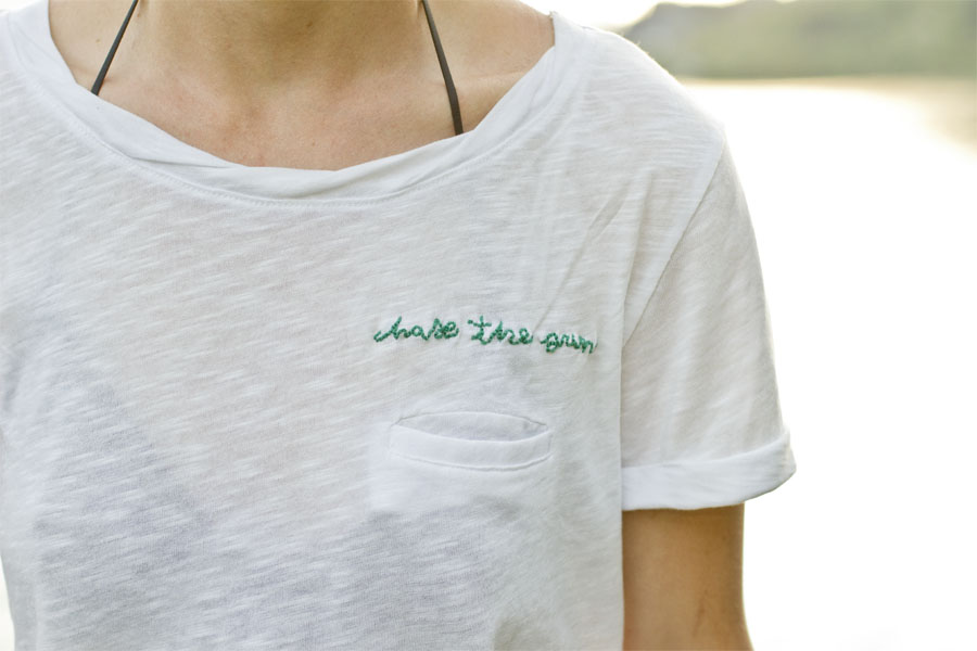 Embroidered Tshirt DIY  LOOK WHAT I MADE