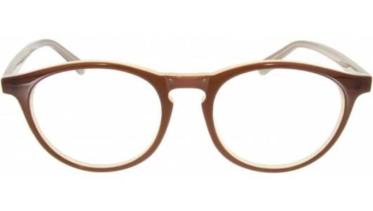 Kaffeebraune Brille mit runden Gläsern