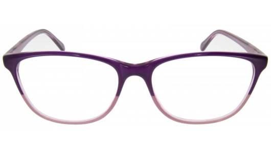 Vollrand Schmetterlingsbrille in lila und rosa