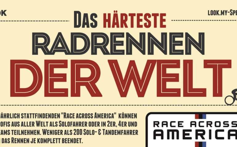 """Grafik mit dem Text """"Das härteste Radrennen der Welt"""""""