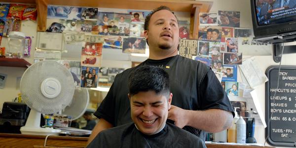 Kaden in Boston Barbershop