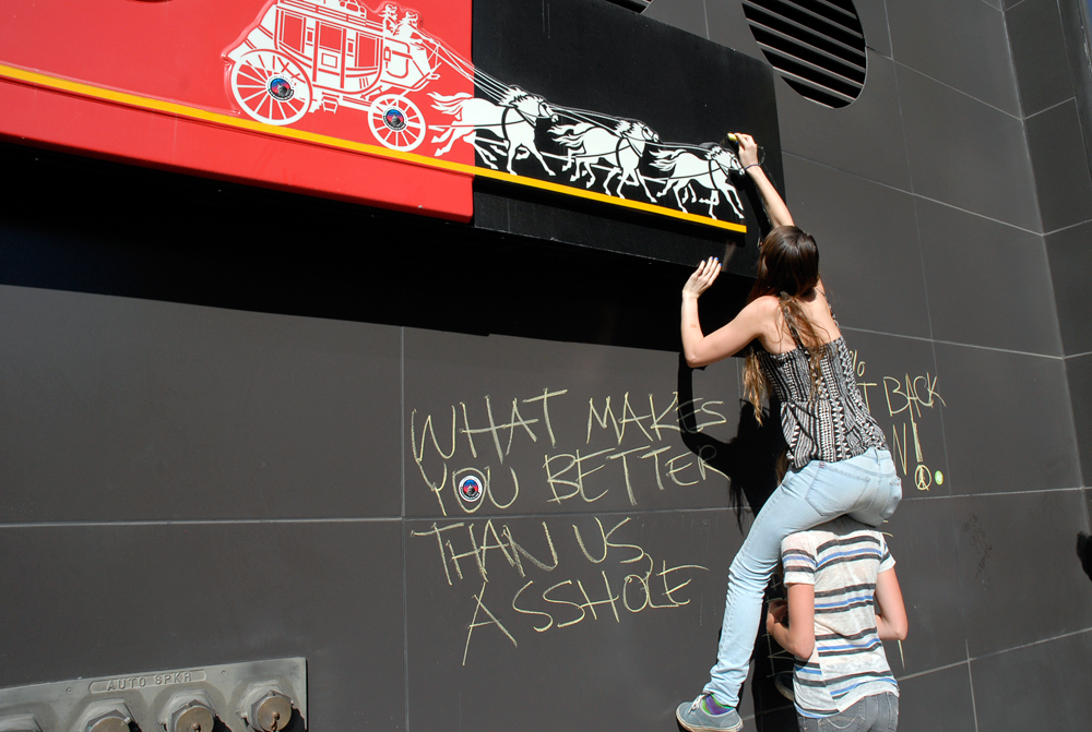 Wells Fargo Graffiti