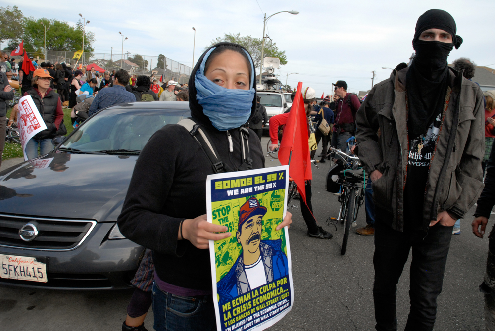May Day March in Oakland - 99 percent