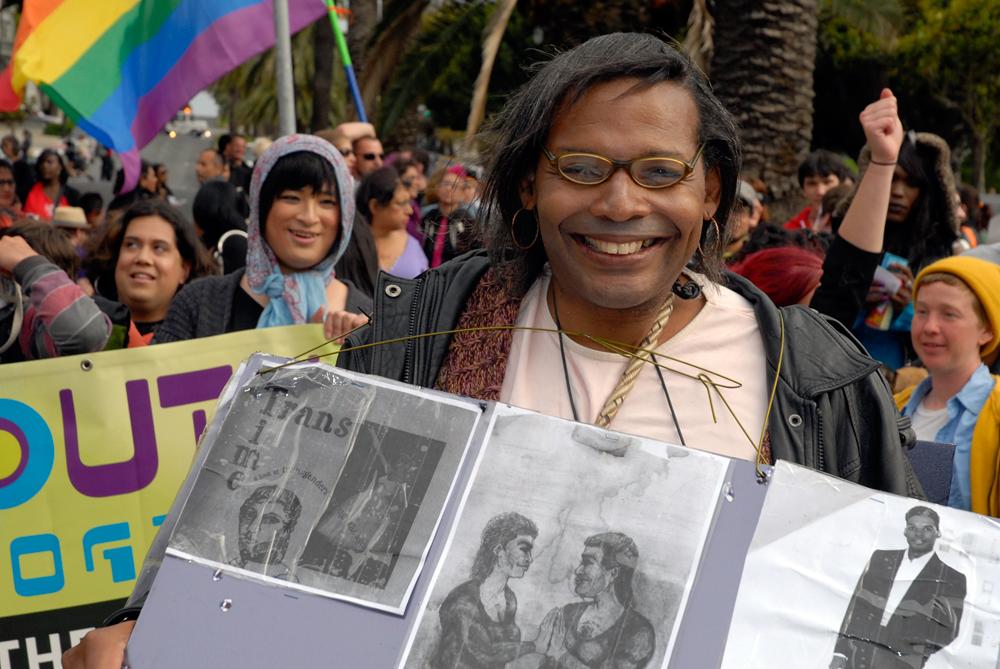 Trans March portrait