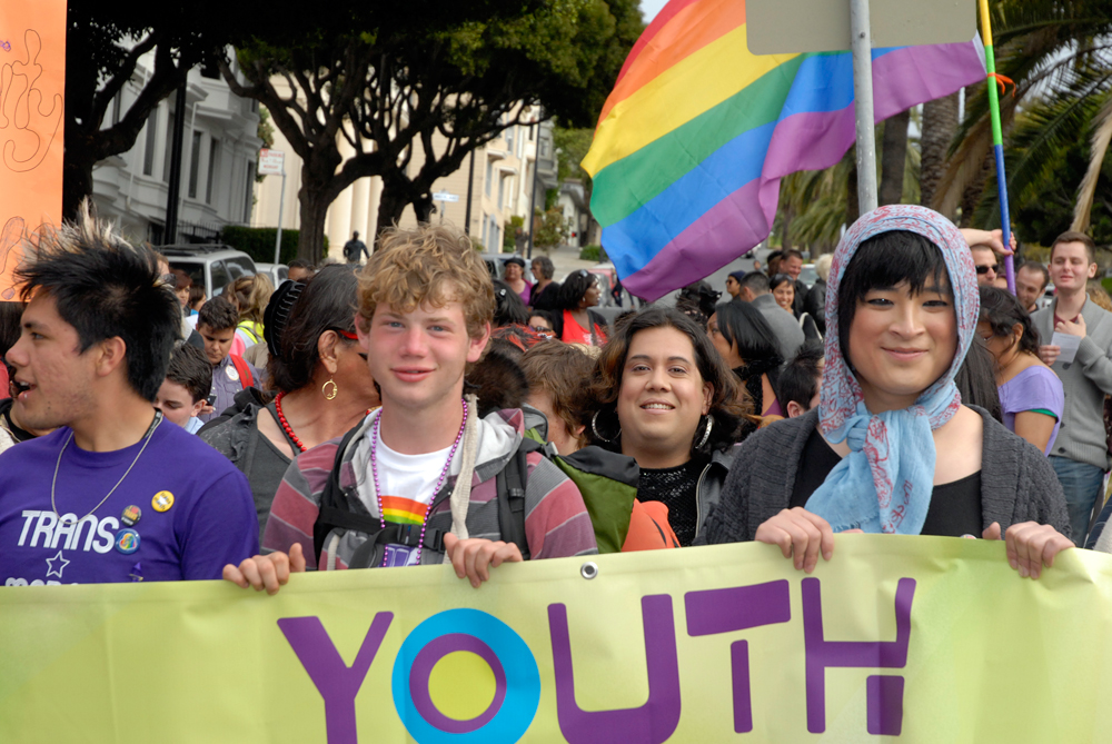 Trans March Youth Marchers