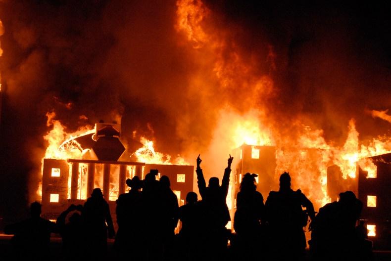 Burn Wall Street-by Otto Von Danger Oakland, CA. Photo: Wendy Goodfriend