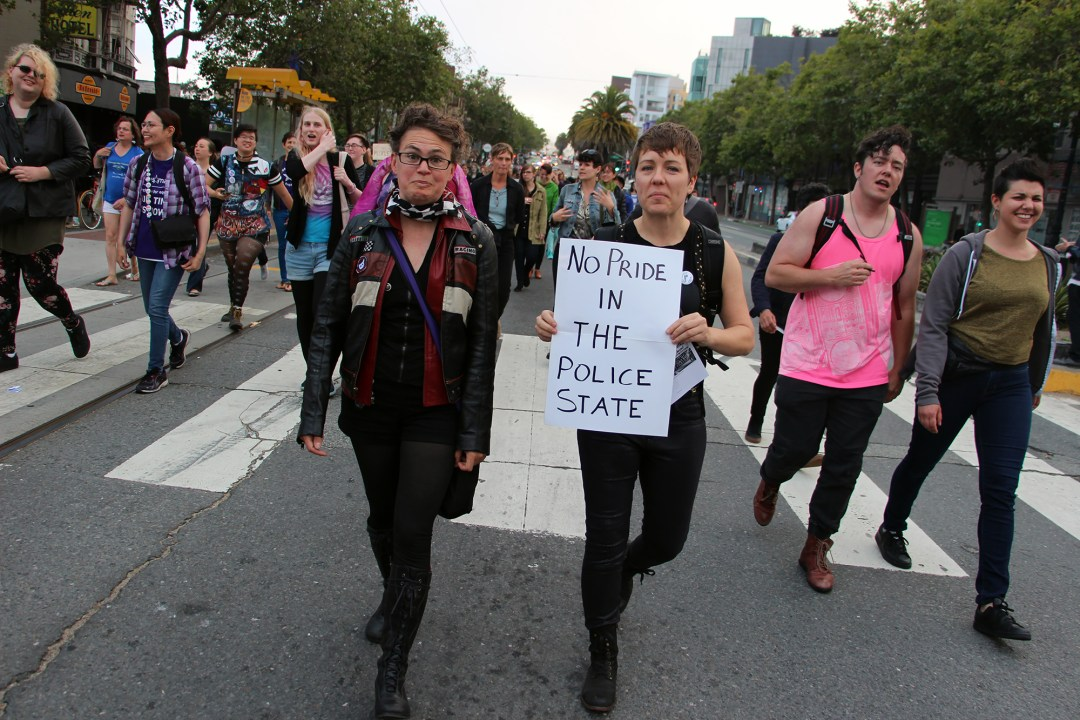 Trans March SF - No Pride in Police State