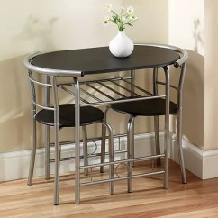 2 Chair Kitchen Table Set Aid Professional 600 Compact Space Saving Chairs Dining Look Again