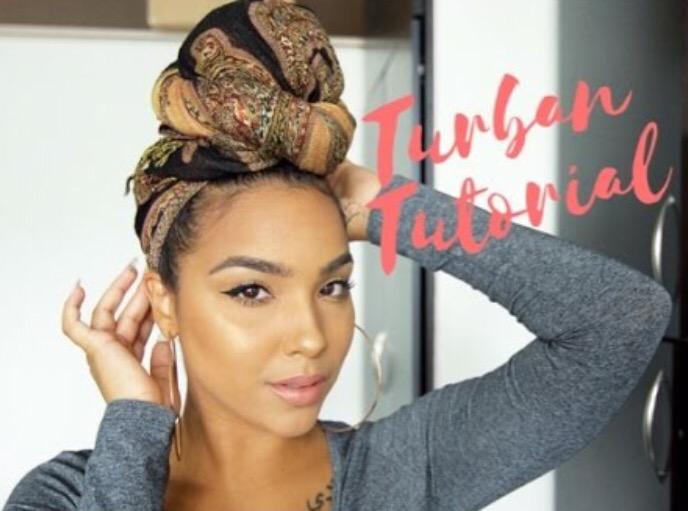 The EASIEST Headwrap/Turban Tutorial!
