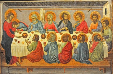 medieval renaissance era supper last during perspective italian artist influenced gothic painting religious works giotto di church french voster point