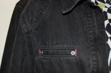 Black denim Jacket detail