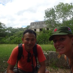 My correan friend in Uxmal