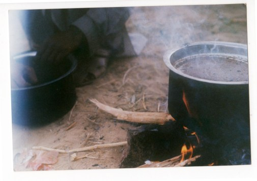 daily chai cooking over fire
