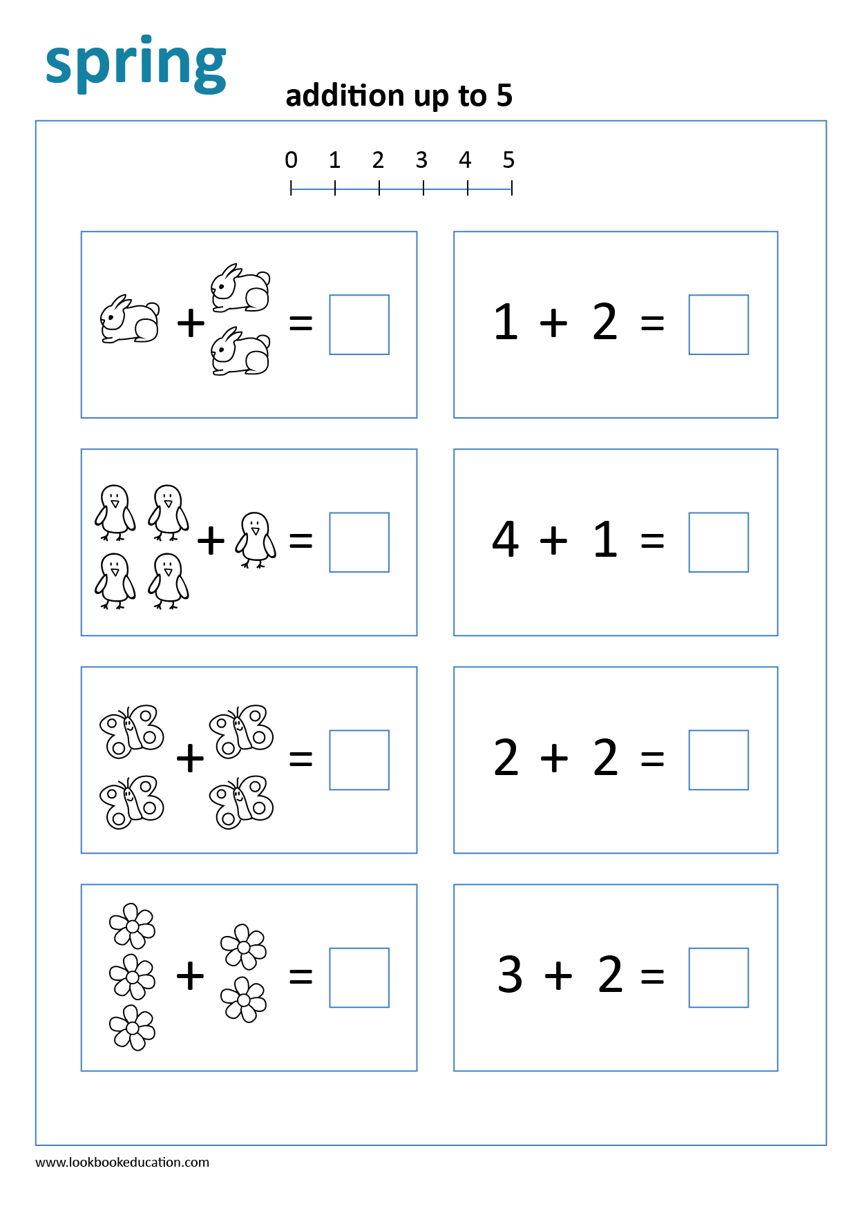 Worksheet Addition Spring