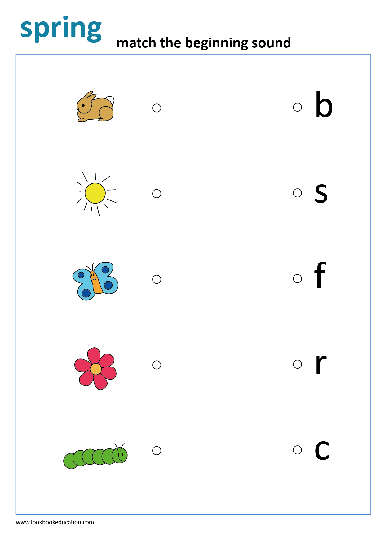 Worksheet Beginning Sound Spring