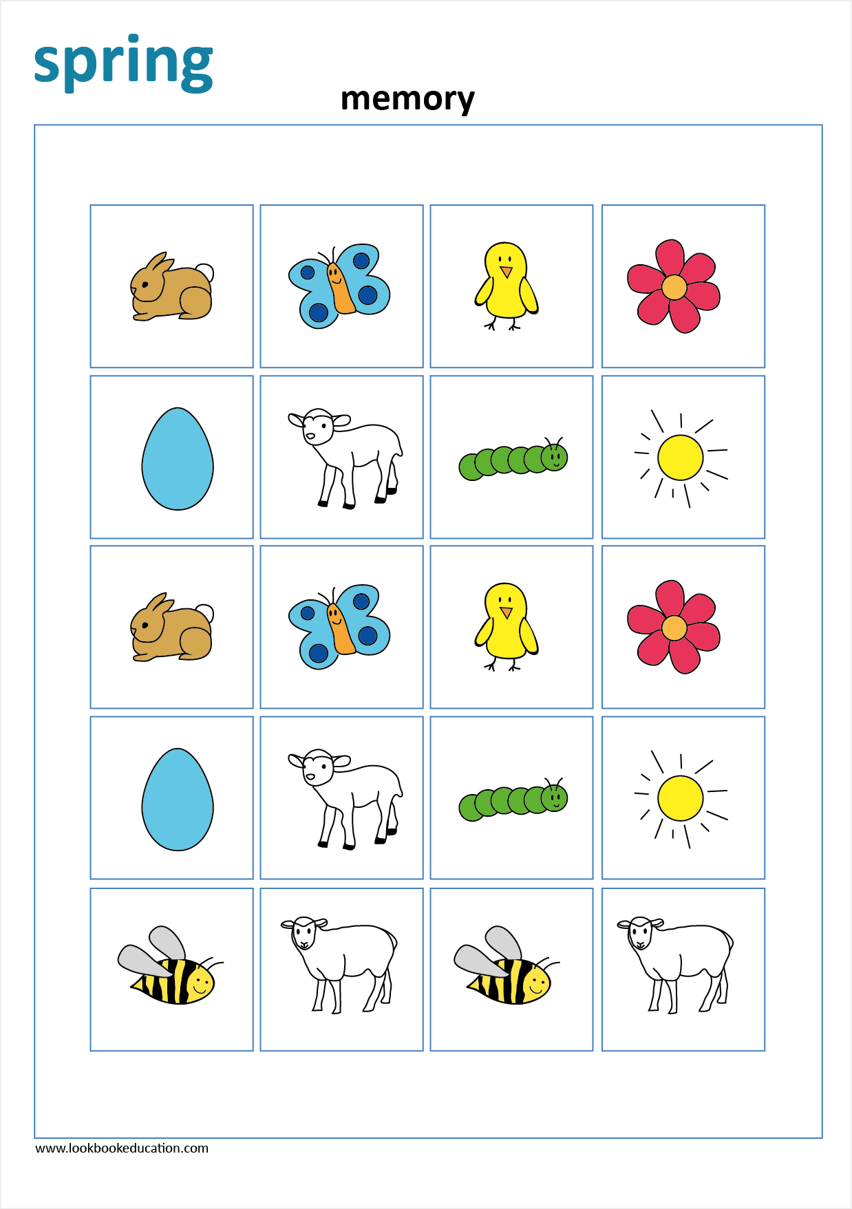Worksheet Spring Memory