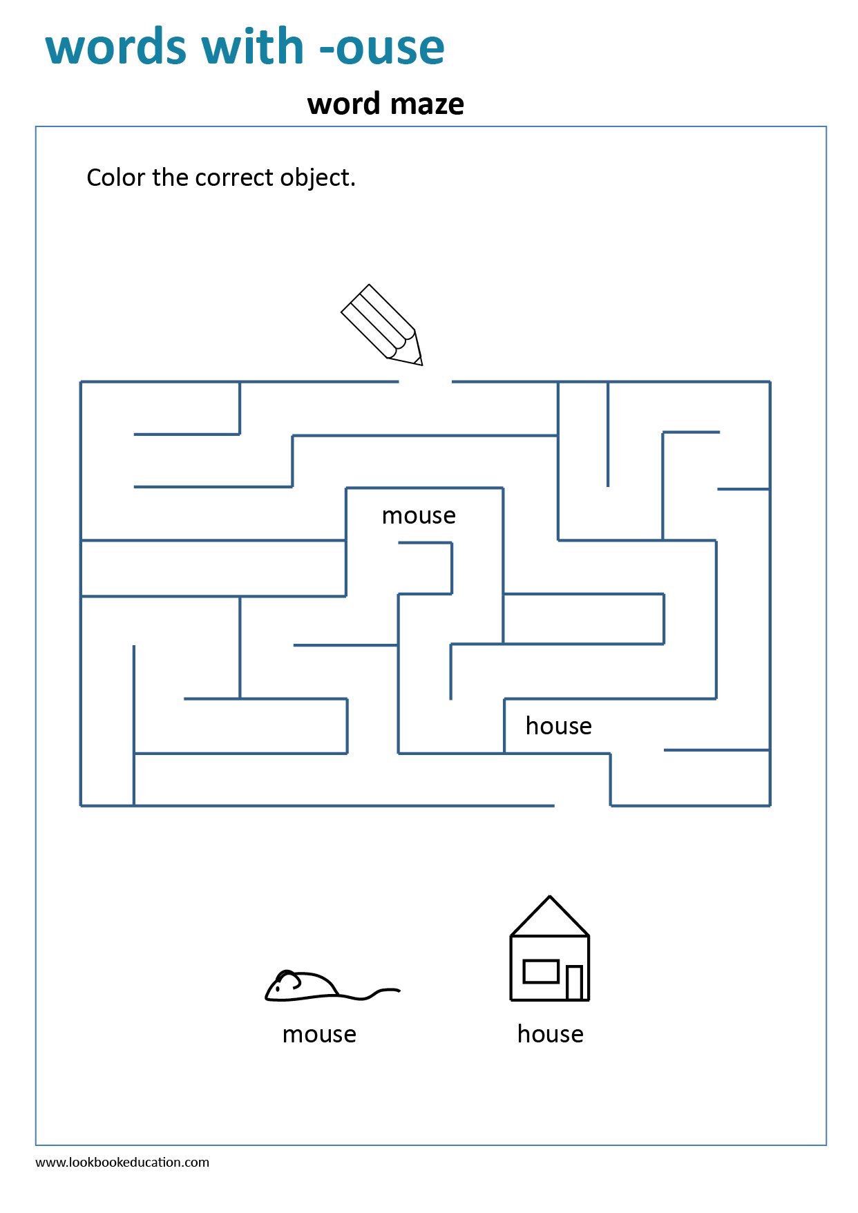 Worksheet Words With Ouse Maze