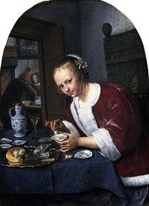 cerámica decorada en azul en la pintura barroca