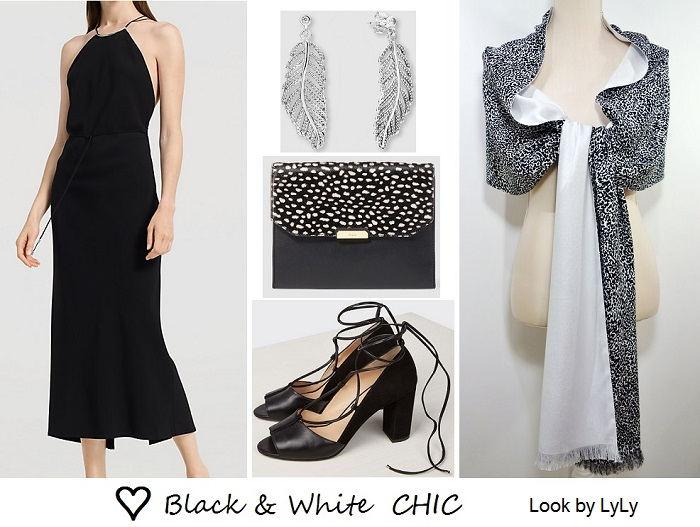 looks de verano en blanco y negro