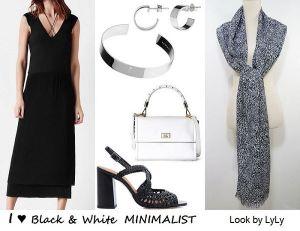 Outfits en blanco y negro para las noches de verano
