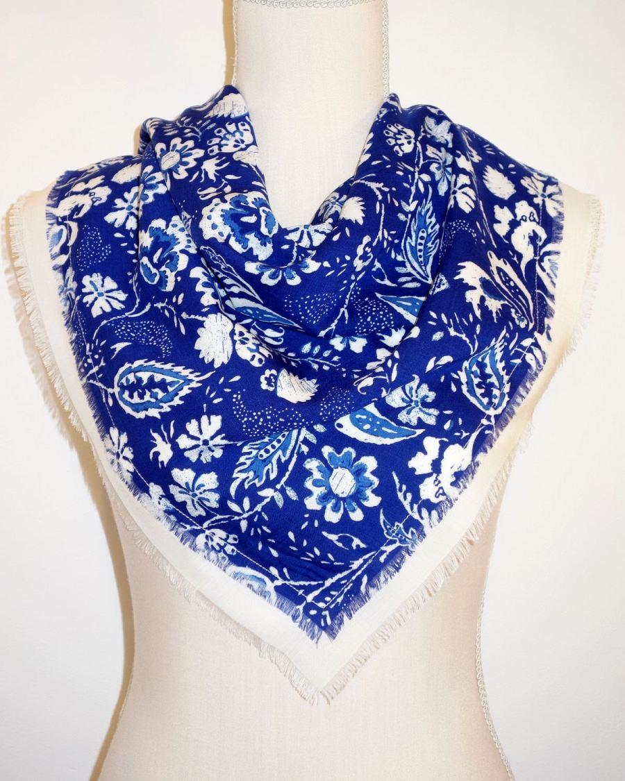 pañuelo cuello mujer estampado