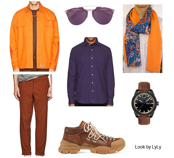looks con naranja