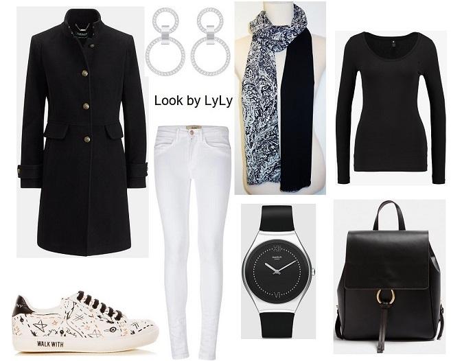 estilismos para otoño en negro y blanco