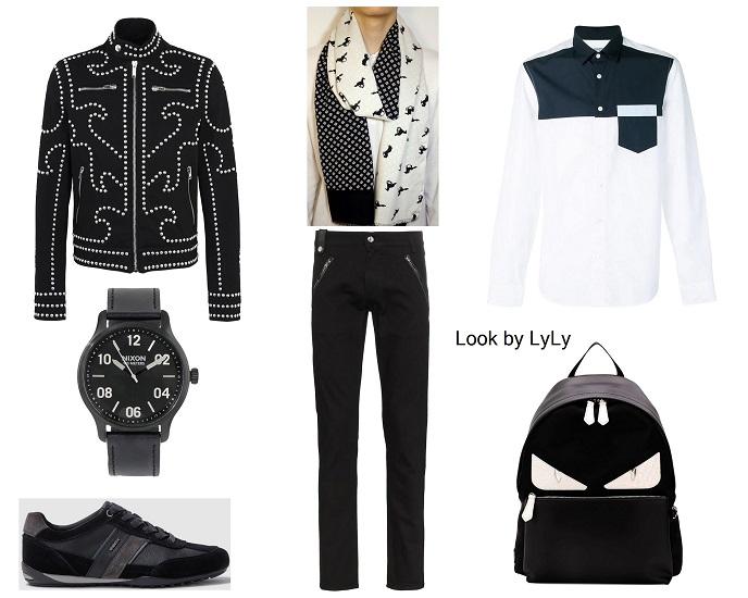 estilismos negro y blanco para hombre