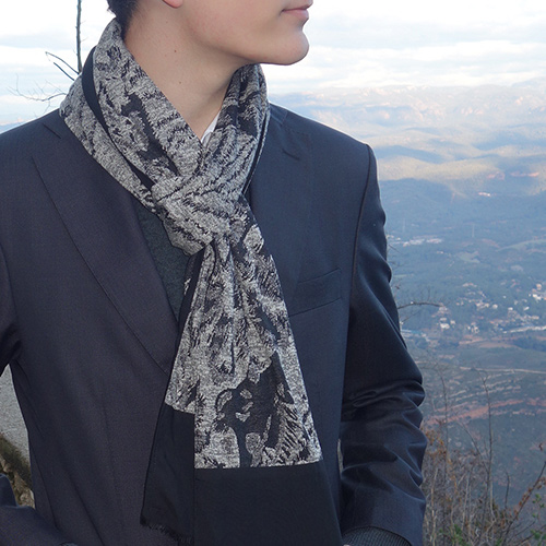 bufanda para hombre estampada