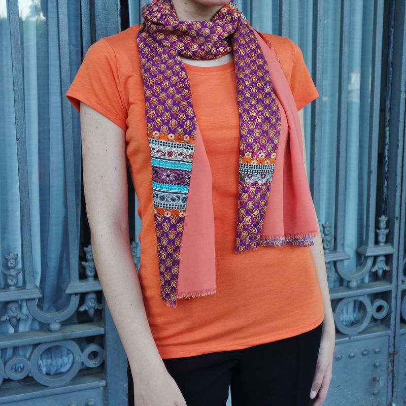 fular de mujer naranja look by lyly