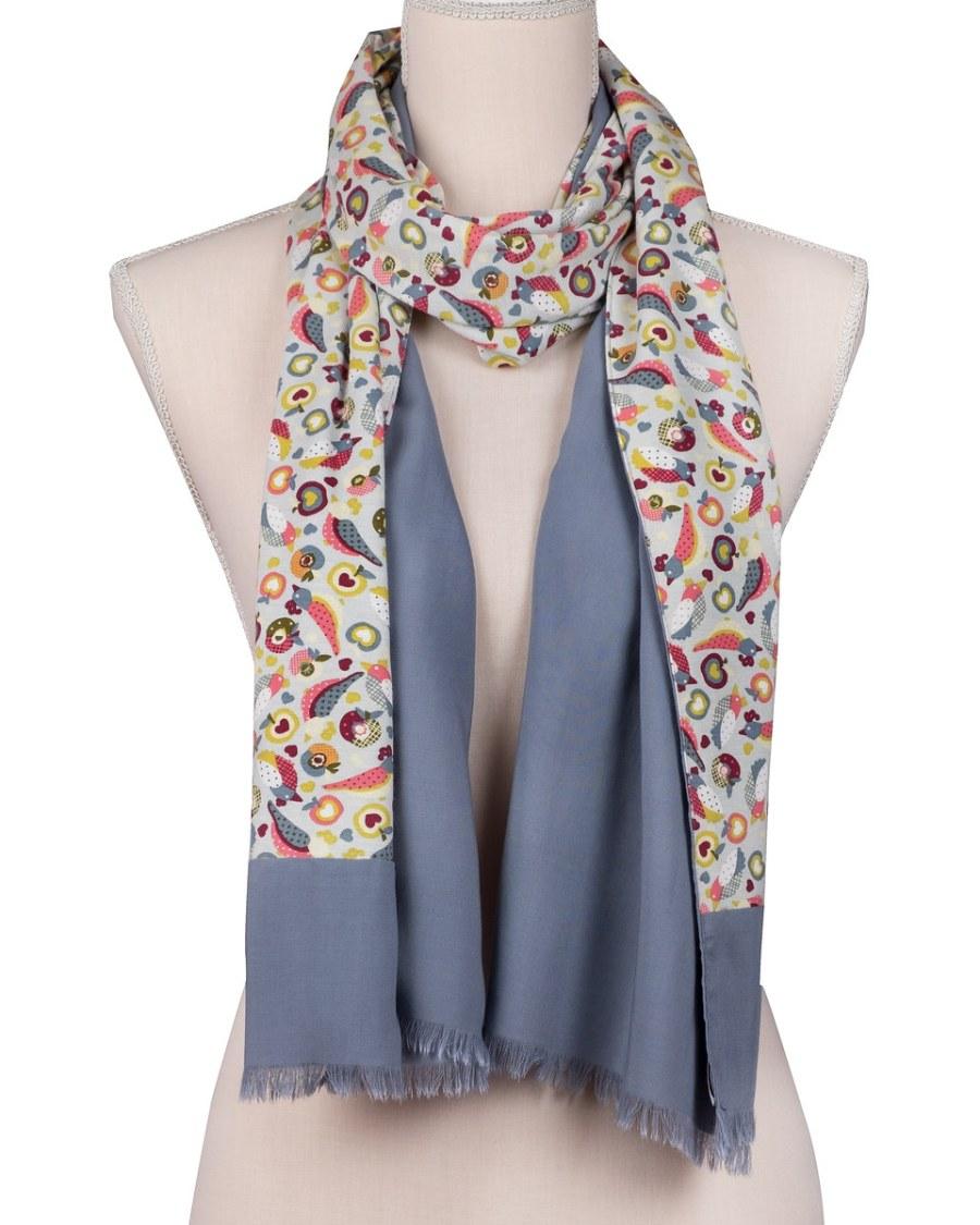 bufanda para mujer gris look by lyly