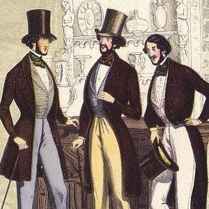 sombrero copa alta en s.XIX