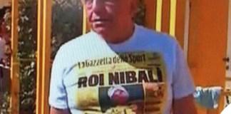 Adrianno Galliani tshirt Gazzetta dello Sport Vincenzo Nibali