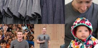 Mark Zuckerberg tshirt grigia