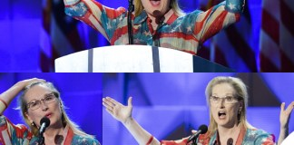 Meryl Streep convention democratica Philadelphia abito Catherine Malandrino