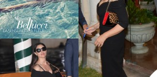 Monica Bellucci Venezia abito Dolce & Gabbana sandali borsa Christian Louboutin