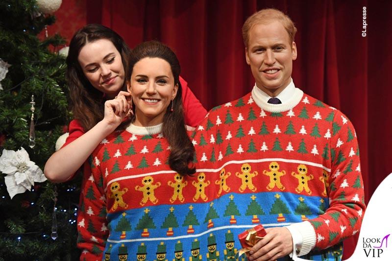Londra la famiglia reale britannica in versione natalizia al Madame Tussauds  Look da Vip