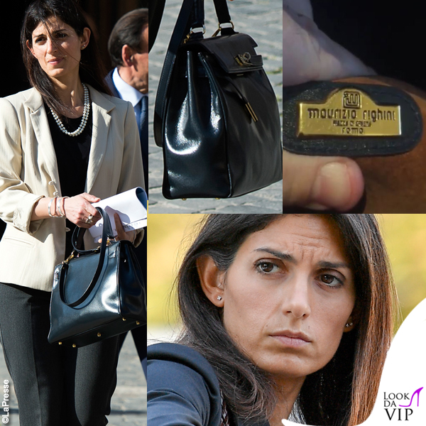 Virginia Raggi borsa Maurizio Righini fake Hermes