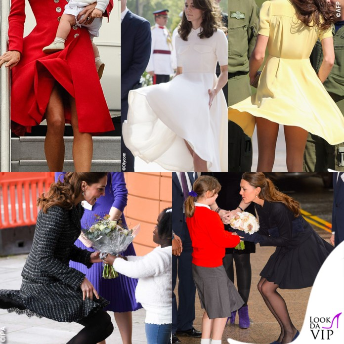 Kate Middleton abito Catherine Walker abito Emilia Wickstead abito Jenny Packham tailleur Dolce e Gabbana gonna Orla Kiely