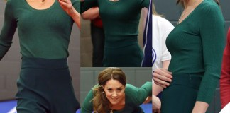 Kate Middleton di verde vestita all'evento SportsAid a Londra