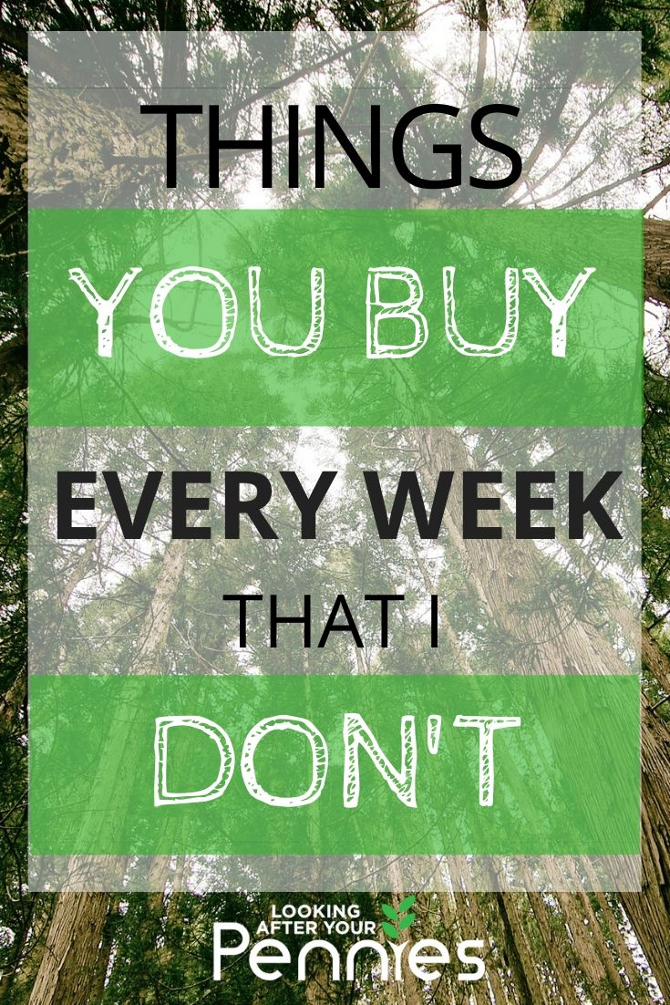 i buy the same things every week
