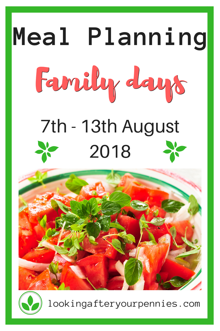 With lots of family days ahead, meal planning needs a different kid of thinking about this week. Take a look at what we are eating this week. #mealplanning #frugalliving #familylife #lookingafteryourpennies