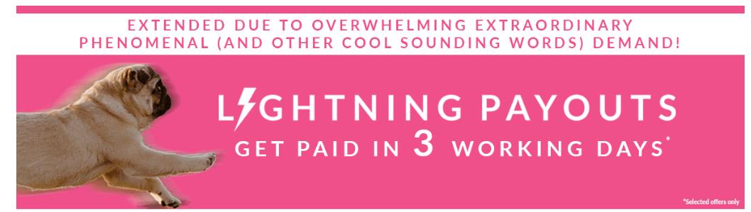 oh my dosh lightning payouts